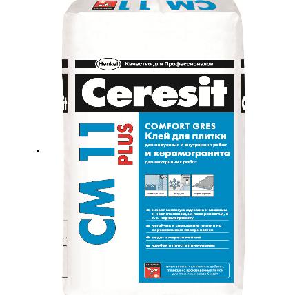 CM 11/25 PRO Ceresit Клей для керам.плитки для внут. и нар.работ и керамог. для внут.работ 25кг (48)