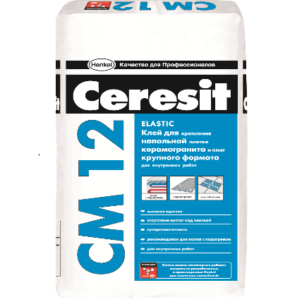 CM 12/25 Ceresit Клей для наполн.плитки крупного формата для внутр.работ 25кг (48)