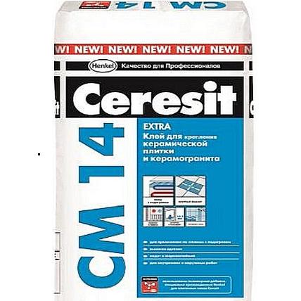 CM 14/25 Ceresit Клей для керам.плитки и керамогранита для внут. и наруж.работ 25кг (48) А